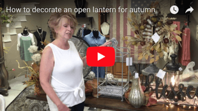 How to decorate an open lantern