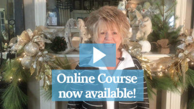 Holiday Mantel Course by Debbie Futhey from MemoriesofHome.com